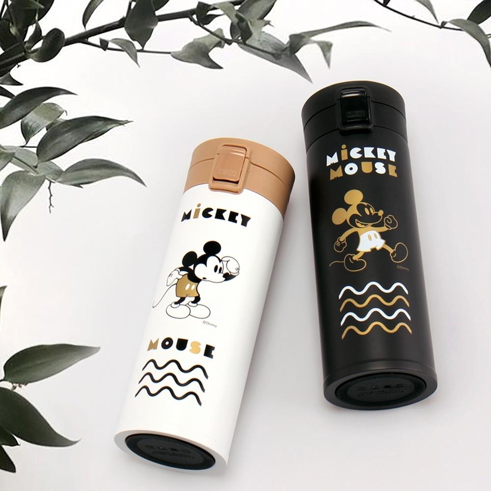 [買一送一 平均一入745] Disney 迪士尼經典米奇#304不鏽鋼陶瓷內膽真空彈跳保溫瓶420ml