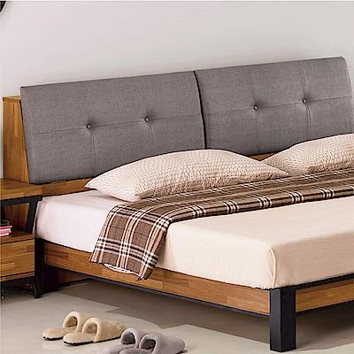 綠活居 派米亞時尚5尺耐磨亞麻紋皮革雙人床頭箱(不含床底)-154x30x95cm免組