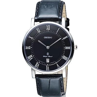 ORIENT東方錶SLIM系列羅馬時標優雅腕錶(FGW0100GB)
