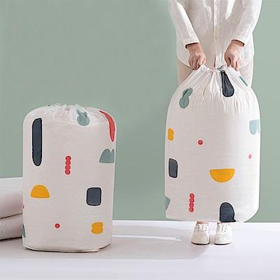 [aiken]清新印花圓筒棉被收納袋(大尺寸)