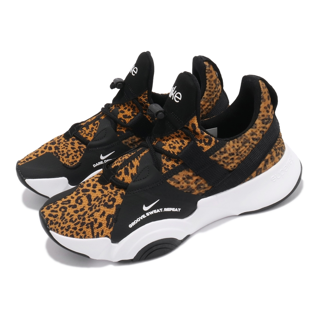Nike 訓練鞋 SuperRep Groove 女鞋 襪套 健身房 支撐 包覆 運動 球鞋 棕 黑 CT1248107