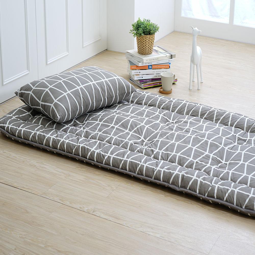 3D超柔日式床墊(交錯花色)