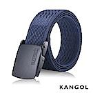 KANGOL EVOLUTION系列 英式潮流休閒自動釦皮帶-藍色豎紋 KG1181