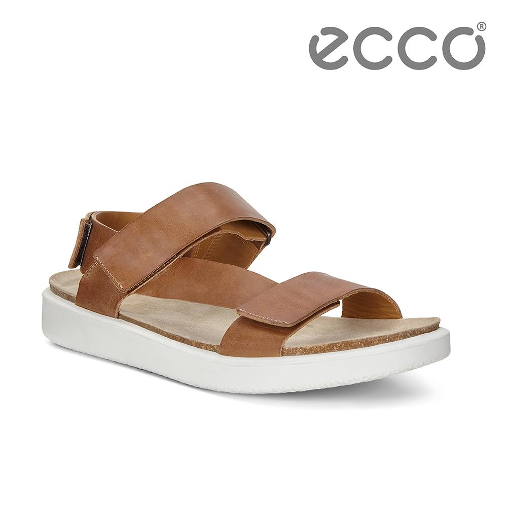 ECCO CORKSPHERE SANDAL M 質感牛皮休閒涼鞋 男-棕色