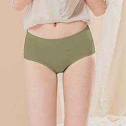 台灣製超細柔手感棉質中腰三角M-XL內褲 橄欖綠綠 可蘭霓Clany