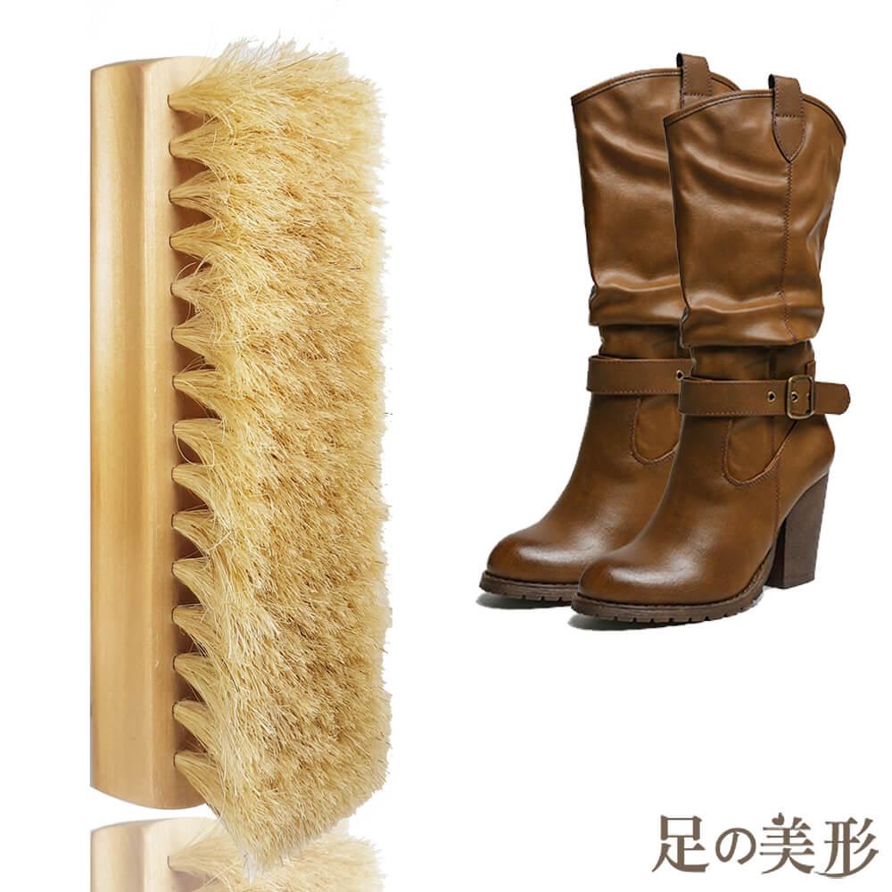 足的美形 木質拋光專用豬鬃刷(1支)