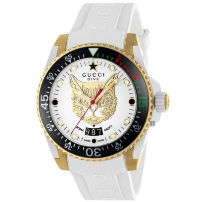 GUCCI古馳 Dive 200米潛水手錶-40mm  YA136322