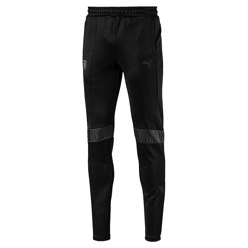 PUMA-男性法拉利經典系列T7長褲-黑色-歐規
