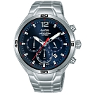ALBA-雅柏 IG廣告款-型男計時錶-AT3G37X1-藍x44mm