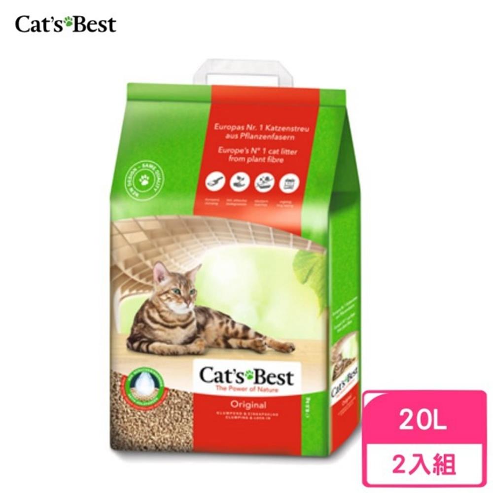 德國凱優Cat′s Best-經典凝結木屑砂(紅標凝結型) 20L/8.6kg 兩包組