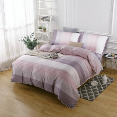 夢工場時尚雅緻40支紗萊賽爾天絲四件式兩用被床包組-特大