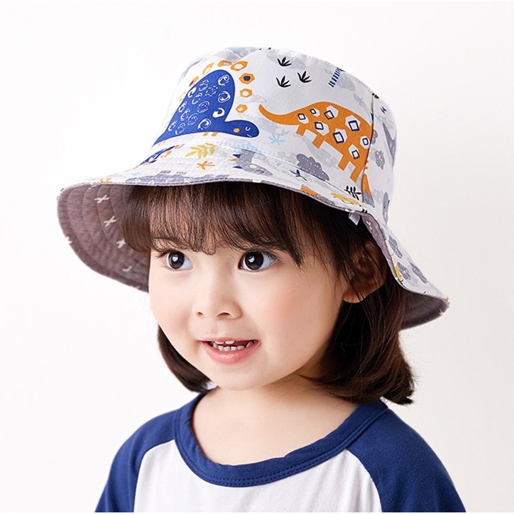 Baby童衣 兒童漁夫帽 幼兒防曬帽 恐龍漁夫帽 男寶寶女寶寶雙面帽 孩童遮陽帽 88485