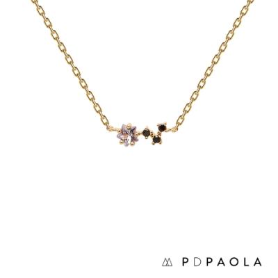PD PAOLA 西班牙輕奢時尚品牌 閃爍星鑽垂墜項鍊