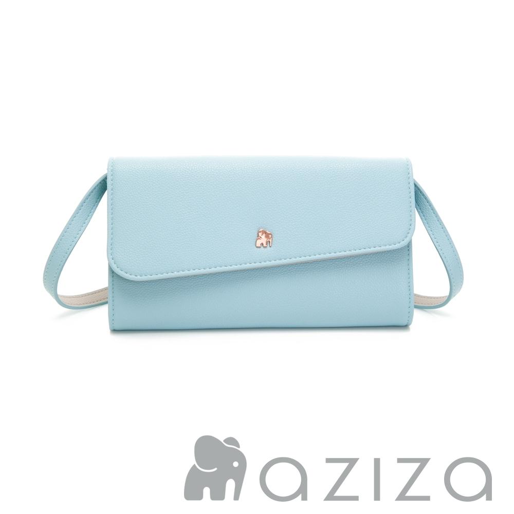 aziza AGNES 可拆式3way手拿/皮夾包 水藍