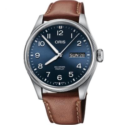 Oris豪利時 BIG CROWN PROPILOT飛行手錶(0175277604065-0752207LC)-44mm