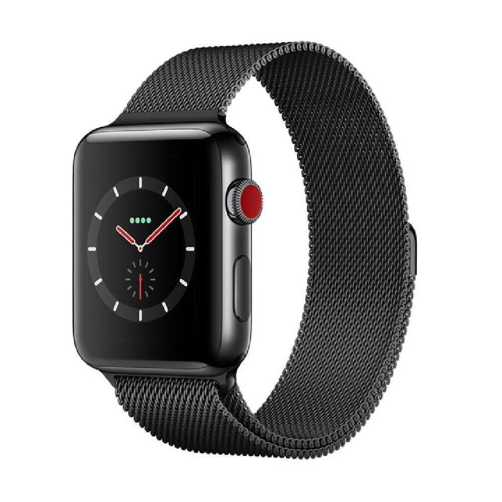 Apple Watch S3 GPS+網路 42公釐 太空黑色不銹鋼米蘭環
