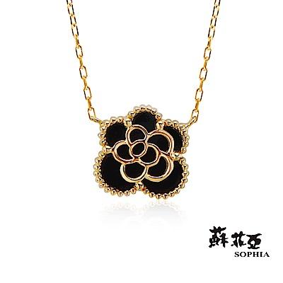 蘇菲亞SOPHIA 項鍊 - 玫瑰造型瑪瑙套鍊/項鍊