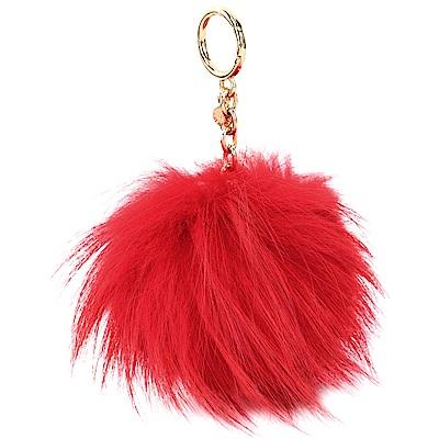 Michael Kors Fur Pom Pom 毛球吊飾/鑰匙圈(大/紅色)