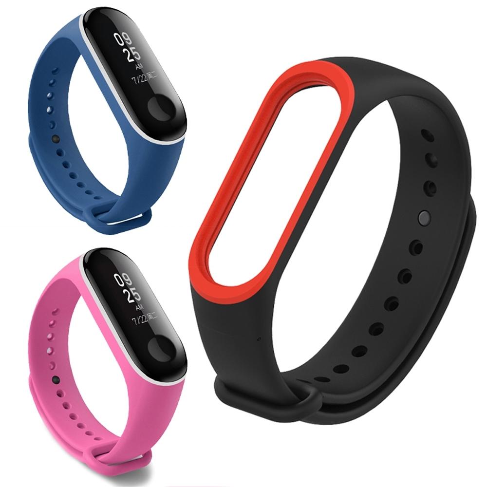 ANTIAN 小米手環4 防水耐磨個性雙色腕帶 智能運動手環錶帶 時尚舒適手錶帶