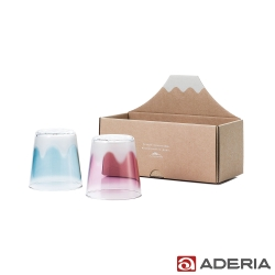 ADERIA 日本進口富士山玻璃對杯 300ml
