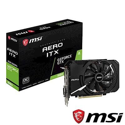 MSI微星 GeForce GTX 1660 AERO 6G OC顯示卡