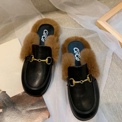 KEITH-WILL時尚鞋館-韓國氣質小星星穆勒托鞋-黑色