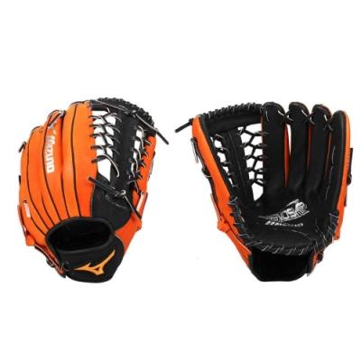 MIZUNO 壘球手套-右投 外野手套 美津濃 1ATGS21960-0951 橘黑銀
