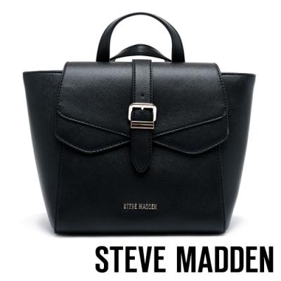 STEVE MADDEN-BJANAB 時尚優雅翻蓋手提/肩斜背/後背蝙蝠包-黑色