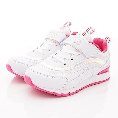 FILA頂級童鞋 時尚老爹鞋款 FO02T-199白桃(中大童段)