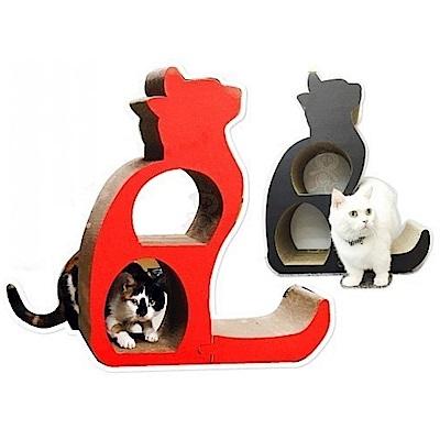 寵喵樂 跳跳貓咪剪影造型貓抓板