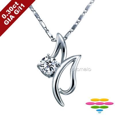 彩糖鑽工坊 GIA鑽石 30分 G/I1 1EX車工 鬱金香鑽石項鍊