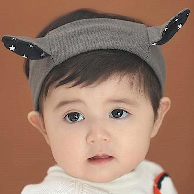 Baby unicorn 星星耳朵寬版髮帶