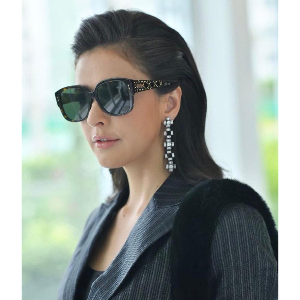 Dior 鉚釘 太陽眼鏡(琥珀色)
