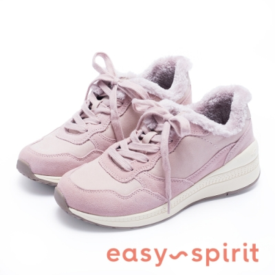Easy Spirit evTRELINE 絕佳毛感百搭休閒鞋-絨粉