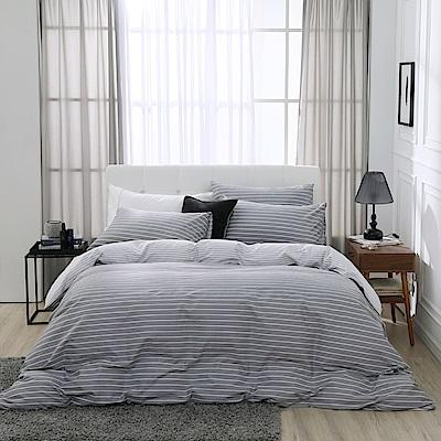鴻宇 100%精梳棉 巴洛克 雙人加大四件式薄被套床包組
