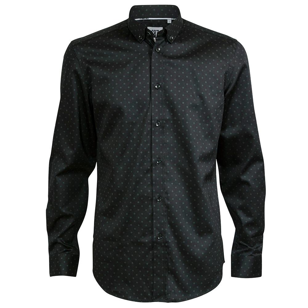 CR7-雙扣領經典圓點襯衫-黑(8713-72100-9)