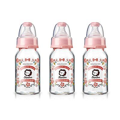 小獅王辛巴 蘿蔓晶鑽標準玻璃小奶瓶3支組(120ml)