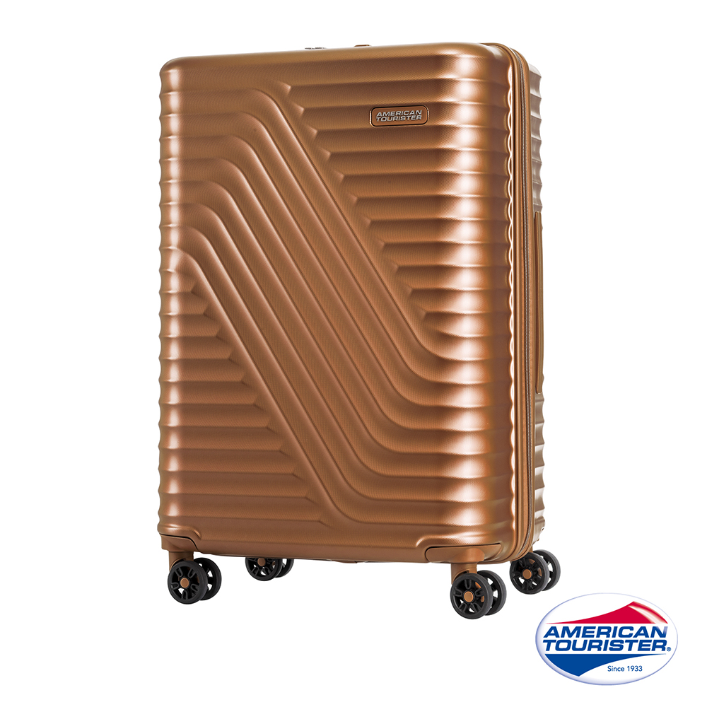 AT美國旅行者24吋High Rock流線硬殼TSA行李箱(古銅)
