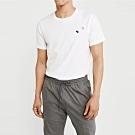 麋鹿 AF A&F 經典圓領電繡麋鹿素面短袖T恤-白色