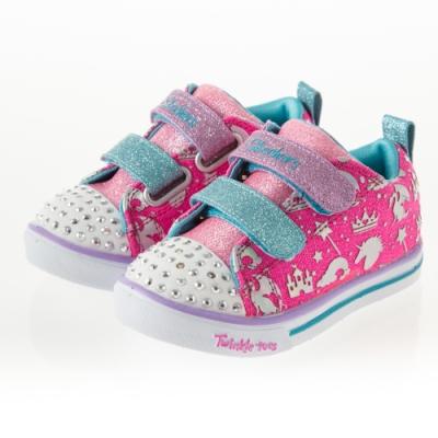 SKECHERS 女嬰童系列 燈鞋 SPARKLE LITE - 20274NHPMT