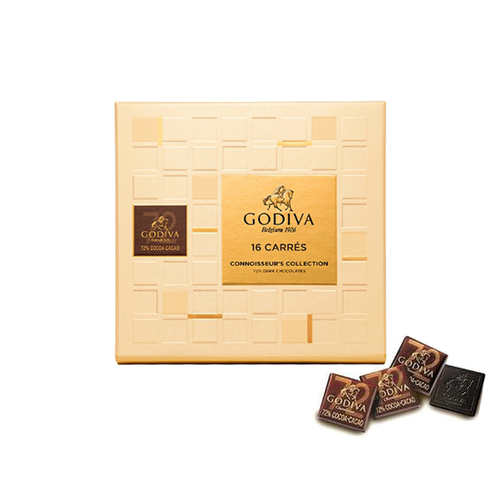 GODIVA 72%黑巧克力片禮盒(16片/盒)