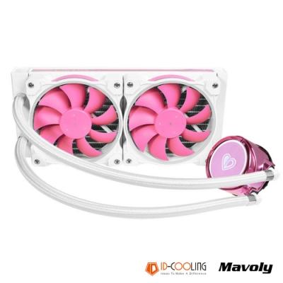ID-COOLING 限定款粉紅ARPG水冷排 PINKFLOW 240 散熱風扇 (附遙控器)