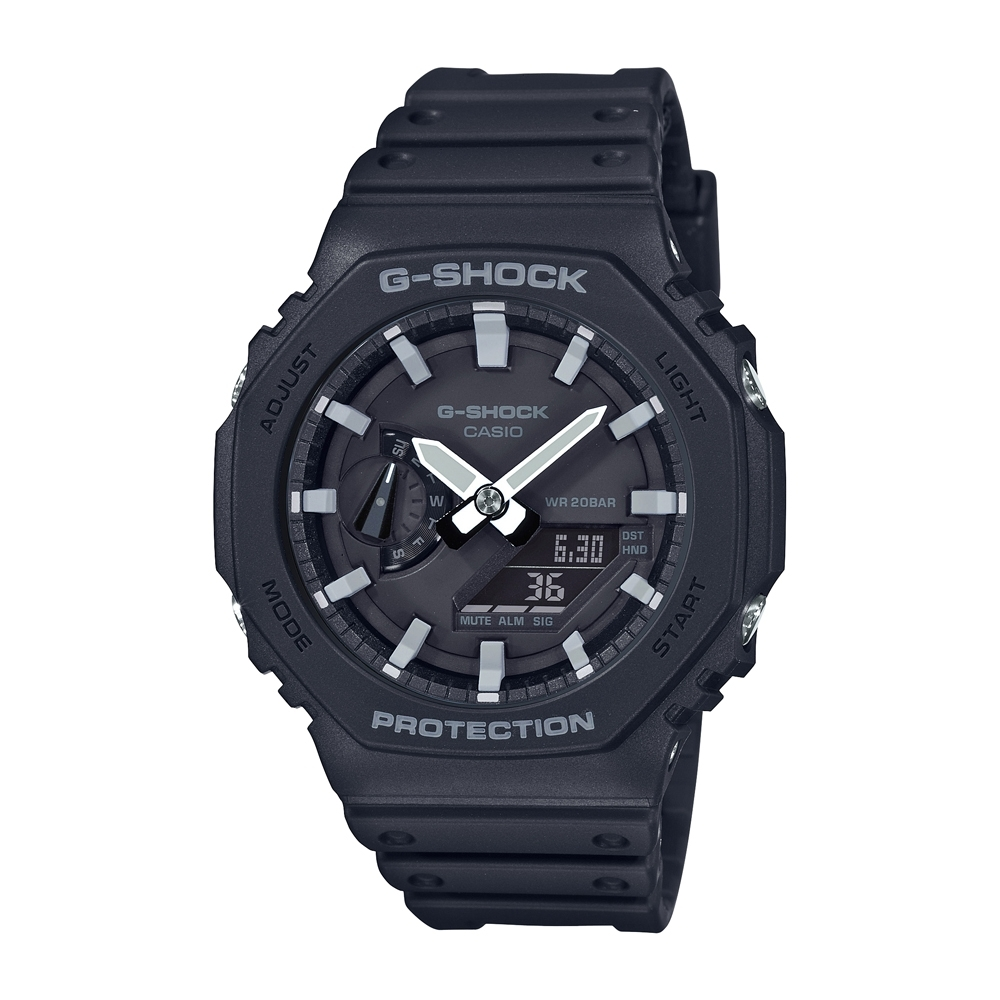 CASIO卡西歐 G-SHOCK 八角型錶殼 GA-2100-1A_45.4mm