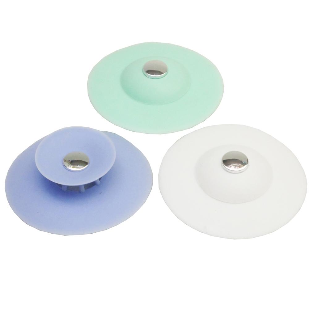 月陽超值3入按壓式水槽過濾器排水口過濾網(800104)顏色隨機出貨