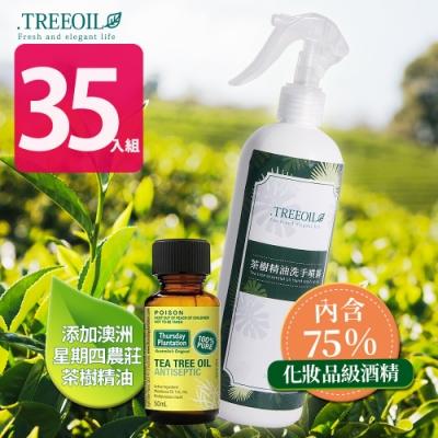 TREEOIL 75%酒精 乾洗手噴霧劑(添加茶樹精油) 500ml*35入