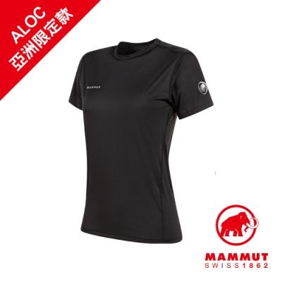 【Mammut 長毛象】Body Cool T-Shirt AF 涼感短袖上衣 黑色 女款 #1017-01870