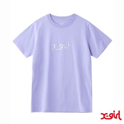 X-girl AURORA MILLS LOGO S/S REGULAR TEE短袖T恤-紫