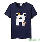 bossini女裝-拉拉熊系列印花短袖T恤03海軍藍