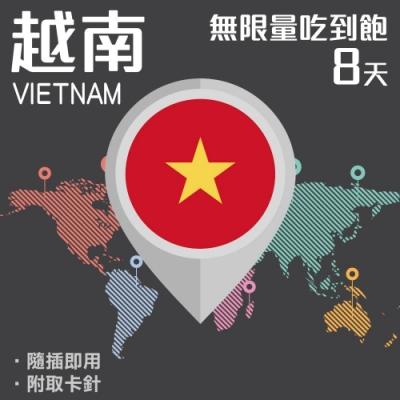 【PEKO】越南上網卡 8日高速4G上網 無限量吃到飽 優良品質