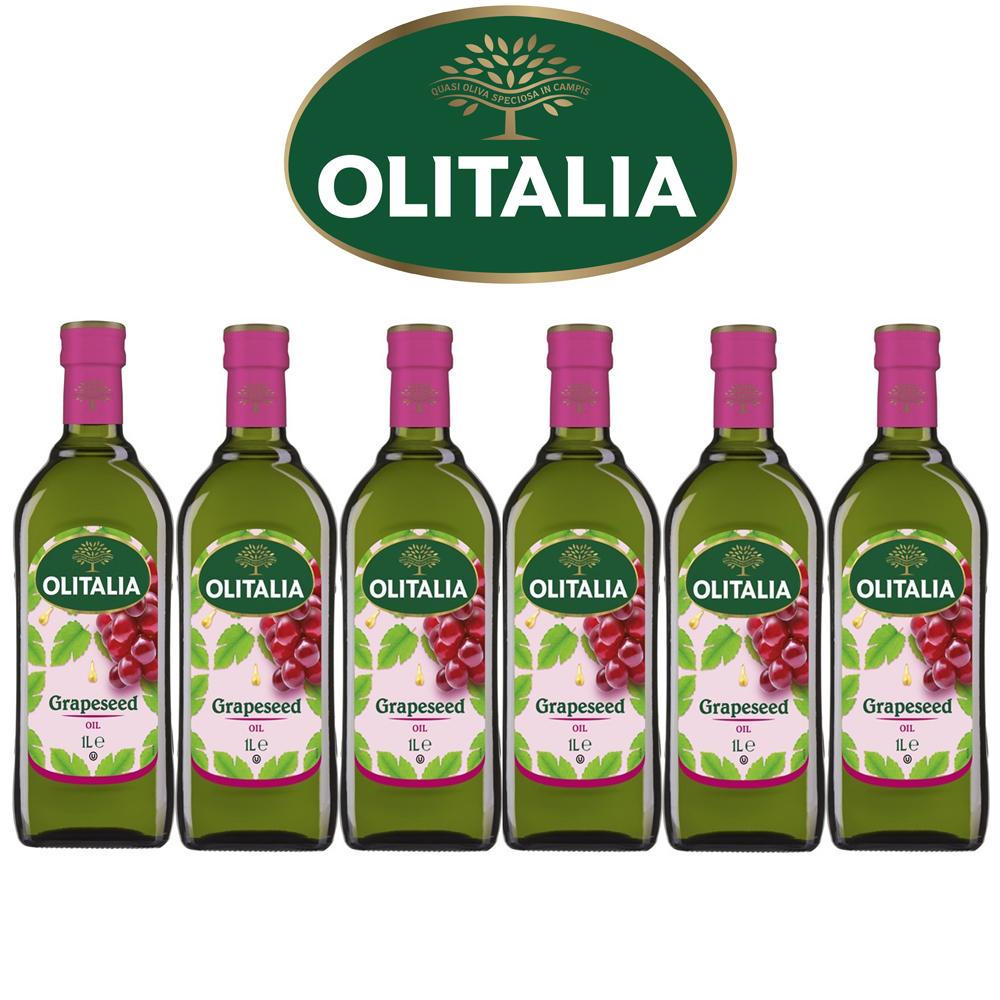(活動) Olitalia奧利塔葡萄籽油禮盒組(1000ml x 6瓶)(春節禮盒)
